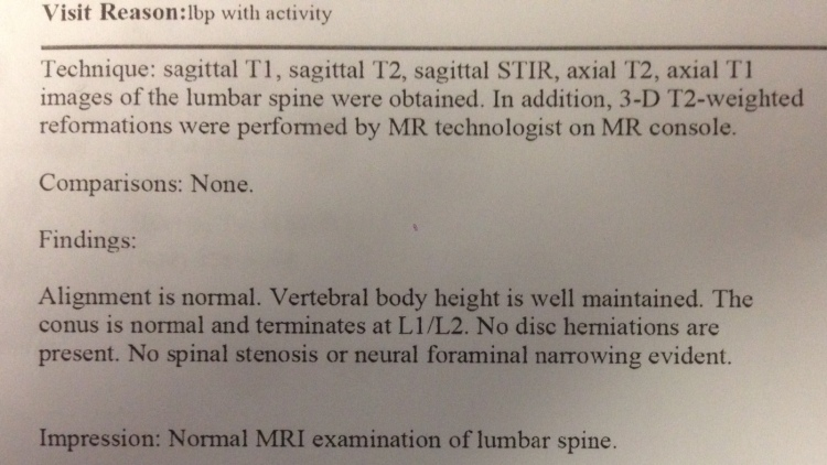 Differential Diagnosis Low Back and Leg Case